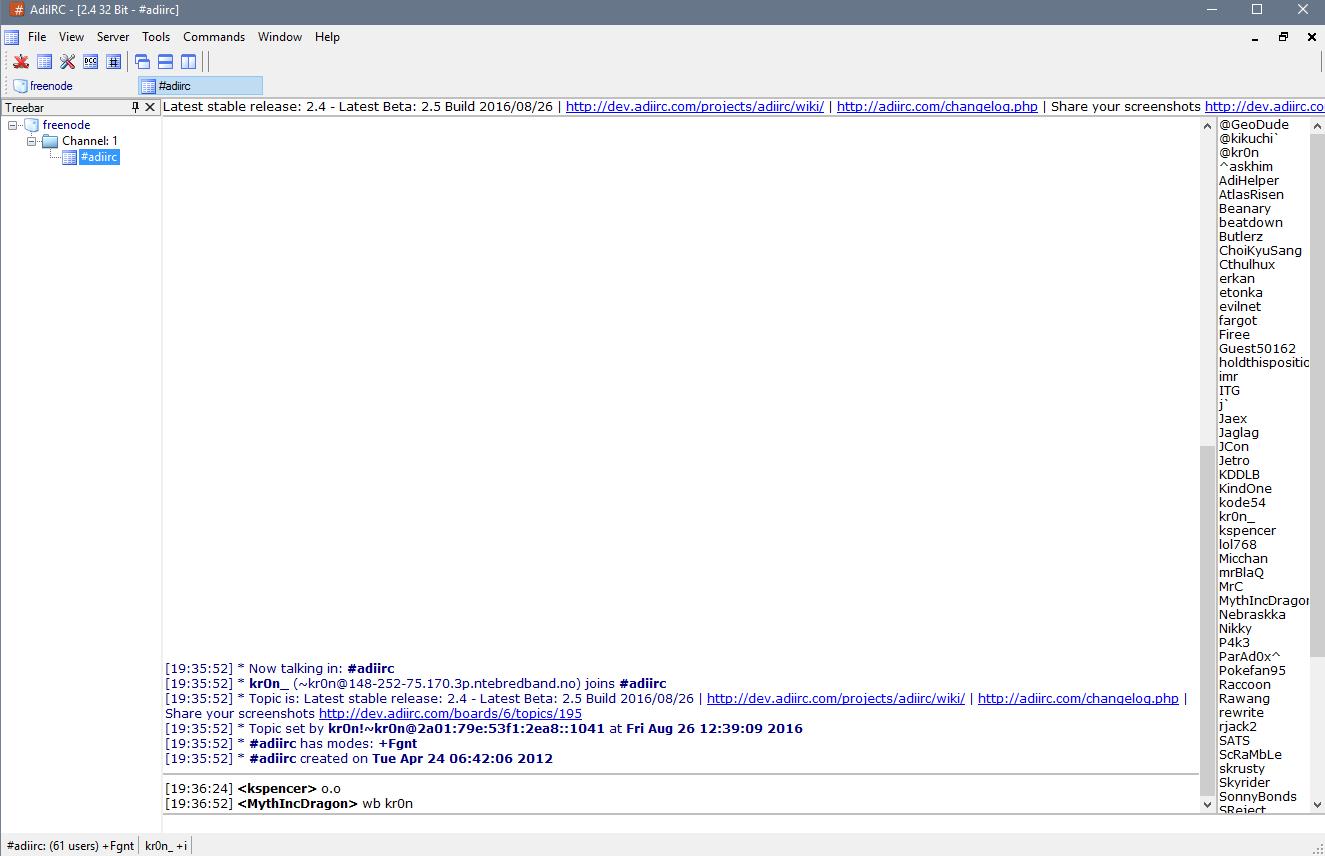 IRCHelp org — AdiIRC Client for Windows